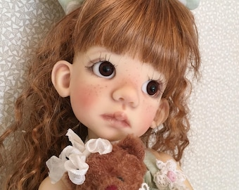 BJD outfit with Teddy Bear that fits Kaye Wiggs MSD Lenny/Layla body