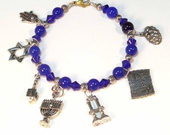Jewish 7 Charm Bracelet