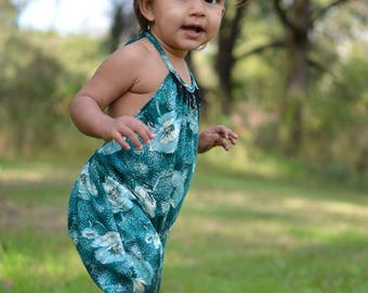 Boho Knit Romper Pattern sizes newborn - size 12 youth
