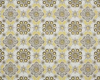1960s Vintage Wallpaper by the Yard - Yellow and Brown Goemetric Vintage Wallpaper