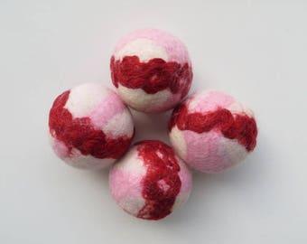 Dryer Balls, Wool Dryer Balls, Tunis and Merino Wool Blend Set of Four
