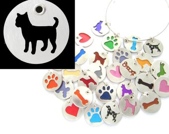 Chihuahua Sterling Silver Necklace Pendant Charm - Lots of Colors