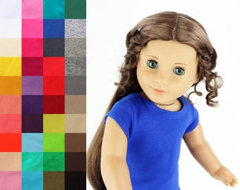 Fits like American Girl Doll Clothes - Cap-Sleeve Tee, You Choose Color