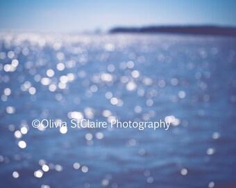 Summer Beach Love, blue ocean art, modern abstract art print, seascape, sea, beach photography, tropical, water, large wall decor, waves