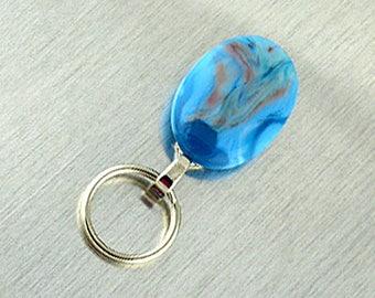 Magnetic ID Holder & Magnetic Eyeglass Holder Handmade with Lampwork Glass, Magnetic Eyeglass L