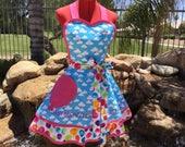 Up Sassy Apron with Balloons Pettcoat/ Underskirt, Cosplay Apron, Misses and Plus Sizes, Girls Sizes, Lolita Up Movie Costume, Wedding Gift