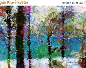 HUGE SUMMER SALE 40% off Nature, Modern Landscape, Springtime, Fine Art Print, Giclee Archival Print, Photomontage, Collage, Painted Photogr