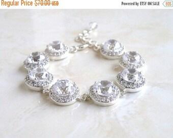 Summer Sale Bridal Bracelet Cubic Zirconia Silver CNB4