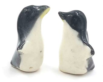 little penguin - miniature penguin pair - terrarium miniatures