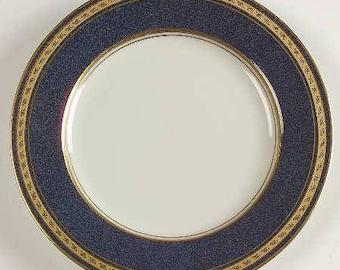 Vintage Mikasa, Imperial Lapis by Mikasa, Pattern Number: L2826, Elegant China, Fine Porcelain Salad Plate, Regal Gold & Blue