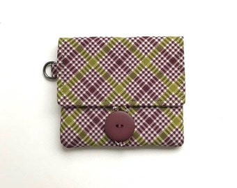 HALF OFF SALE vegan womens wallet. fabric ladies minimalist card case. cloth material cotton small little slim handmade organizer. wristlet