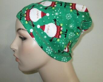 Chemo  Beanie  Hat Women's Christmas Santa  Hat Play Sleep Cap, Cancer Hat, Alopecia   Chemo Hat