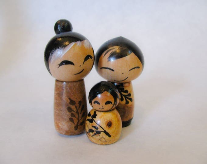 Miniature kokeshi **new work**set of three