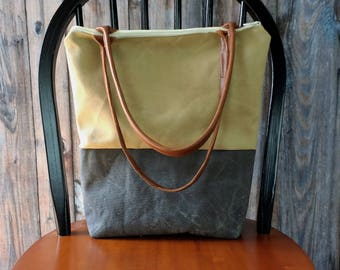 Clothing Gift - Waxed Canvas Bag - Gift for Her - Canvas Bag - Waxed Canvas Tote - Waxed Canvas Tote Bag - Waxed Bag- Fall Tote Bag