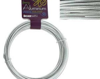 Aluminum Wire Embossed Silver Color 12ga/39ft ALRE12-SI