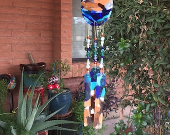 River Stained Glass Windchime