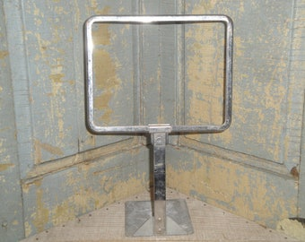 Old Metal Store Display Sign | Vintage  Store Display Holder | Photo Display | Antique Store Price Sign