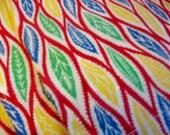 Vintage Fabric    Six hemmed fabric panels