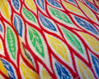 Vintage Fabric    Six hemmed fabric panels