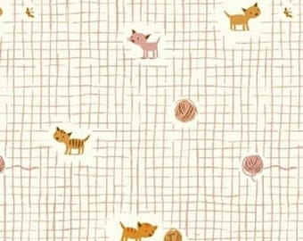 EXTRA20 20% OFF Heather Ross Tiger Lily Kittens Pink