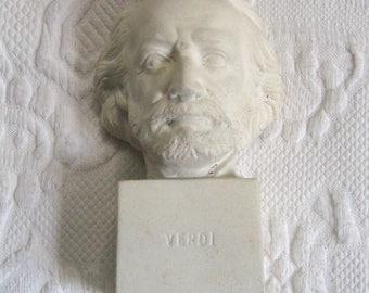 alabaster bust . Verdi bust . musician bust . composer bust . Verdi bust . Ruggeri
