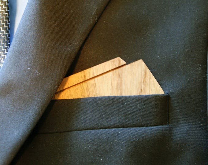 Wooden Pocket Square - Handcrafted from American Black Walnut with Free Personalization!