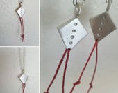 Silver Kite Necklace Wentworth Red String Kite Sterling Pendant