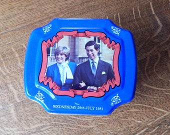 Charles and Diana Wedding Engagement Tea Tin