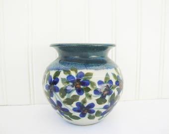 vintage vase stoneware signed Sunstone pottery la jolla Cathra ann barker