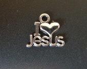I Heart Jesus - I <3 Jesus - Christian/Inspirational Charm - low shipping