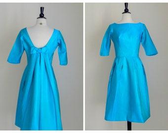 Vintage 60's Aqua House Of Bianchi Formal Dress
