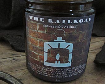 The Railroad Fallout 4 Faction themed candle