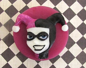 Harley Quinn puddin scented artisanal soap - Batman The Animated Series themed