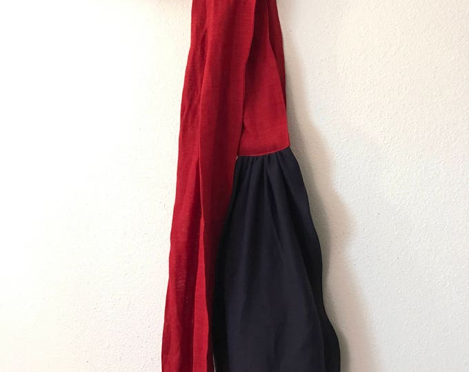 organic cotton / linen obi sash made to order / waist warmer / wide cotton linen obi / Japanese obi sash / belly warmer /