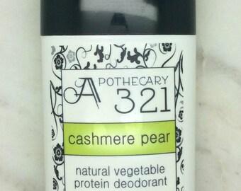 Cashmere Pear Natural Deodorant, Aluminum Free, Paraben Free Vegan Deodorant Pear Scented