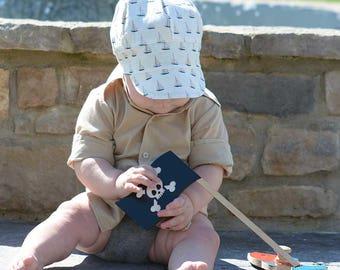 UB2 SAIL THE SEAS a sailboaty ocean-ready, perfectly boyish summer sun hat by The Urban Baby Bonnet (all sizes)