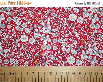 """SUMMER SALE Liberty Tana Lawn """"JUNE'S Meadow"""" colour B red 0.50 metre"""