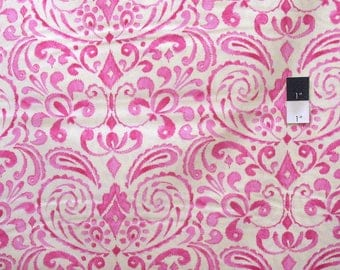 Dena Designs DF97 Kumari Garden Marala Pink Cotton Fabric By Yard