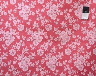 Verna Mosquera PWVM127 Rustic Blush Shadow Rose Cherry Cotton Fabric By Yd