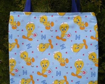 Nurse tote bag Nurses Tweety Bird Medical Hospital RN Handmade Purse