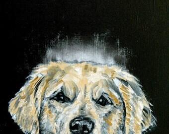 20 % off storewide golden RETRIEVER, angel, dog memorial, art PRINT, modern dog art, pop art, angel art, angel print, dog art, dog print  pr