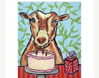 20% off storewide Goat Birthday Art Print