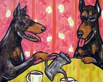 20% off Doberman Pinscher Tea Tine Dog Art Tile