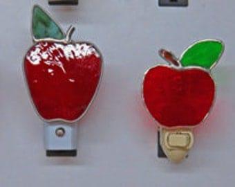 Apple Nightlights x4 - Glass Night Lights Already Made & Ready to Ship