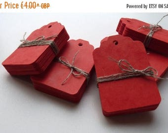 CLOSING DOWN SALE medium size marbled red plain heavy card price hang gift tags