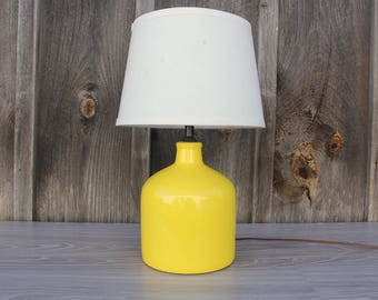 Yellow Ceramic Lamp - Great for a Nursery