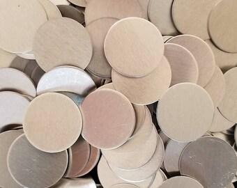 Aluminum Discs - 16 Gauge, stamping blanks, metal blanks, hypo-allergenic, food safe, hand stamping blanks, round blanks, stamping discs