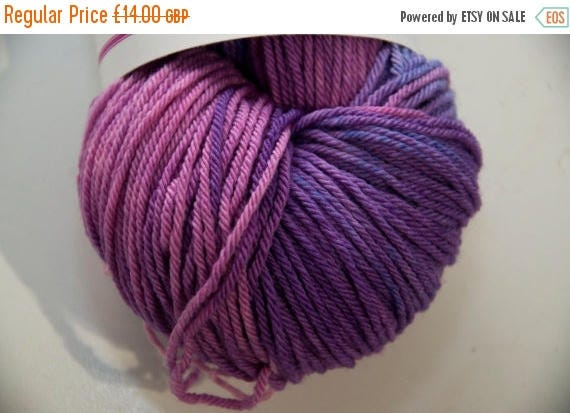 Christmas In July Hand-Dyed Purple People Eater Colourway DK Yarn Merino Squishy Base