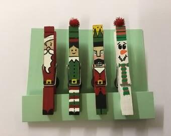 Christmas Pegs - Christmas Characters