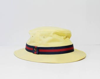 1980s Churchill Fedora Boater Hat